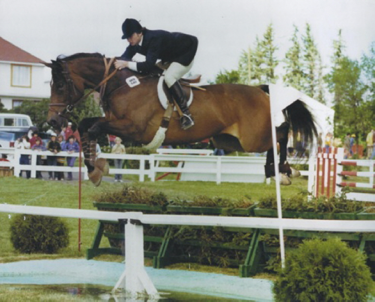 Jonathan Chesler and All Star, Open Jumper International ring Spruce Meadows, Calgary